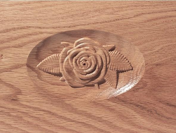 Rose Urn, Deluxe Natural Stain Wood urn, custom urn, discount urn, burial urn