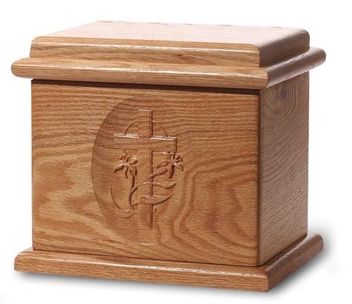 Deluxe Natural Stain Wood urn, custom urn, discount urn, burial urn