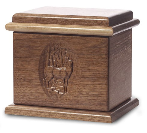 Deer Urn Deluxe Dark Walnut Stain