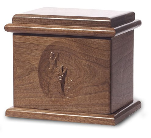 Fishing Urn Deluxe Dark Walnut Stain