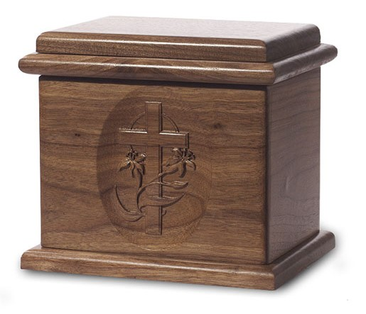 Cross Urn Deluxe Dark Walnut Stain