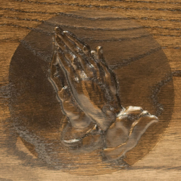 Praying Hands Urn Deluxe Dark Walnut Stain