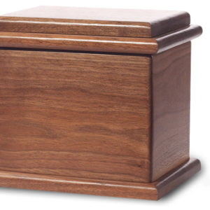 Dark walnut stain - Wood Urn, burial urn, custom urn ,discount urn